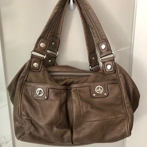 Marc Jacobs leather turn lock duffle